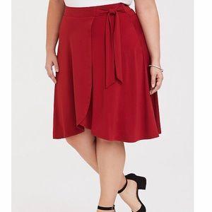 Nwt torrid size 1 wrap red skirt